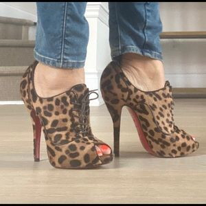 Pony hair leopard Christian Louboutain heels